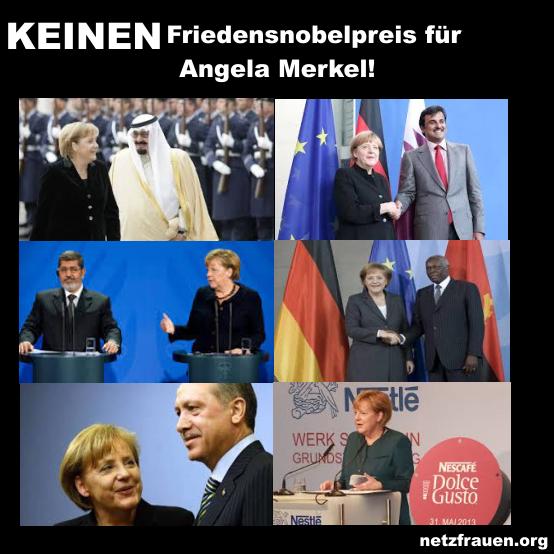 Keinen Friedensnobelpreis für Angela Merkel!