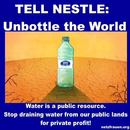 Klage gegen Nestlé wegen illegaler Wasserentnahme  – TELL NESTLE Water is a public resource