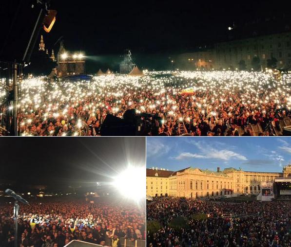 """150 000 Menschen beim Solidaritätskonzert """"Voices for Refugees"""" in Wien"""
