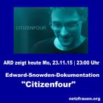 """ARD zeigt Snowden-Film """"Citizenfour"""""""