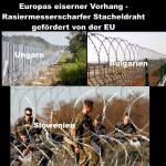 Europas eiserner Vorhang – rasiermesserscharfer Stacheldraht gefördert von der EU