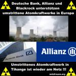 Tihange – Deutsche Bank, Allianz und Blackrock unterstützen umstrittene Atomkraftwerke in Europa
