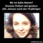 Essener Polizei bittet um Mithilfe – Wo ist  Aylin Hamm?