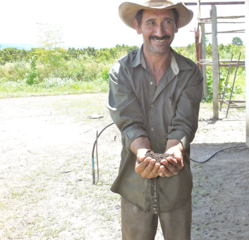 Farmer, Cooperativa Aracal in the State of Yaracuy. Credit: Fred Mills