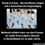 Gewalt an Frauen –  Alle drei Minuten ereignet sich in Deutschland eine Vergewaltigung