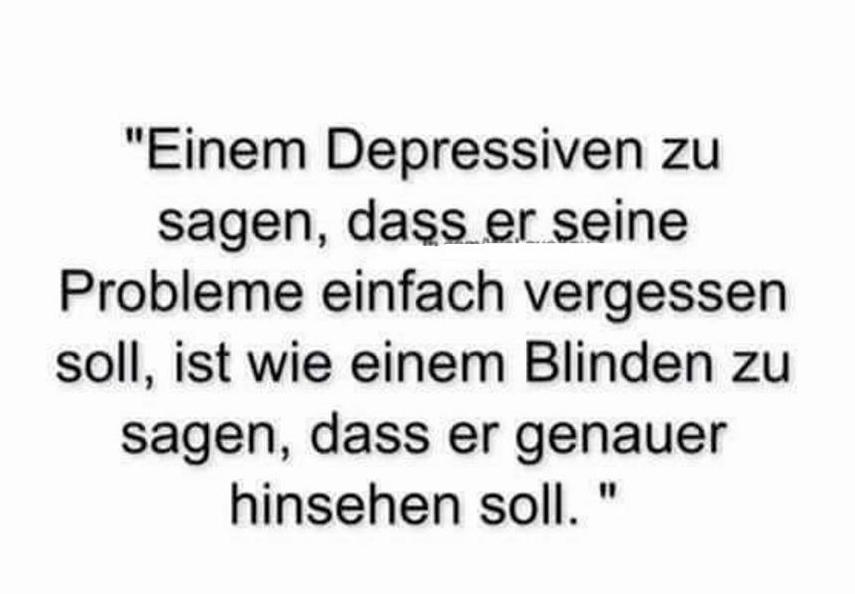 Einem Depressiven Zu Sagen Dass Er Seine Probleme Einfach