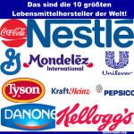 Kennen Sie die größten Lebensmittelhersteller der Welt?