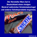 Riesenrückruf für mehrere Schokoriegel von Mars