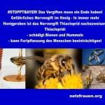 Machen Sie mit! #STOPPTBAYER! Gefährliches Nervengift im Honig – schädigt Bienen und Hummeln –  kann Fortpflanzung des Menschen beeinträchtigen!