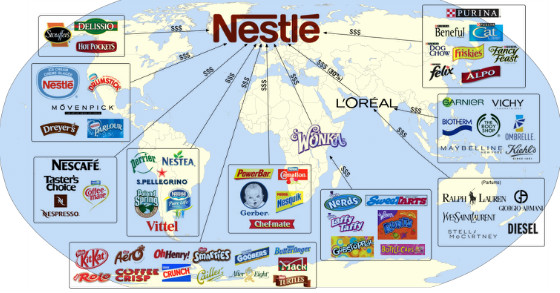 nestle tries for an all for one global