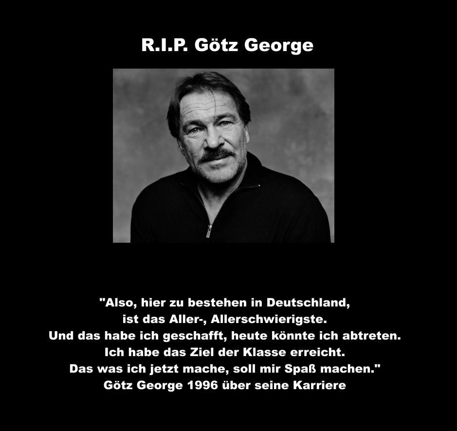 Tschüss Götz George Das Leben Ist Keine Seifenoper Netzfrauen