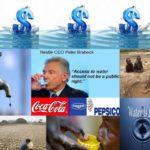 Wem gehört das Wasser? Wasser ist ein Allgemeingut und gehört der gesamten Menschheit und nicht nur Profiteuren!!