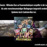 Silvester – Milliarden Euro an Feuerwerkskörpern verpuffen in der Luft – die unter menschenunwürdigen Bedingungen hergestellt werden!  Epidemie durch Cadmium-Reis incl.