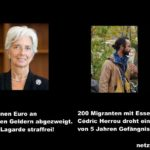 Migranten mit Essen versorgt: 5 Jahre Gefängnis - 400 Millionen Euro an öffentlichen Geldern abgezweigt: straffrei!