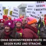 Videos von der Demonstration in Wien:  70.000 gegen rechte Regierung! Vom Baby bis zur Urgroßmutter...