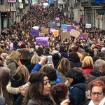 "Weltweiter Streik der Frauen – ""Wenn wir aufhören, hört die Welt auf "" Millionen Frauen legen Spanien lahm! – If women stop, the world stops!- Millions of Women Strike in Spain"