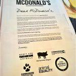 Wie cool ist das denn?! #ImNotLovinIt - McDonald's unter Feuer - ganze Seite in der New York Times!