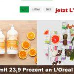 Naturkosmetik boomt, doch Vorsicht! Logocos, mit den Marken Santé und Logona gehört jetzt L'Oréal!