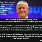 Offener Brief an den Vorstandsvorsitzenden der RWE AG -  Wie nennen Sie das, Herr Schmitz?