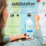 Weniger Plastik, der Umwelt zuliebe! dm testet Abfüllstationen für Reinigungsmittel