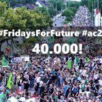 """Fridays For Future! - #ac2106 -  40.000 demonstrieren - """"Eure Gier kostet unsere Zukunft"""""""
