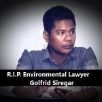R.I.P. Golfrid Siregar - indonesischer Umweltanwalt wurde brutal ermordet, als er gegen Palmölkonzerne und Staudamm kämpfte!