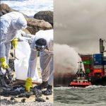Umweltkatastrophe durch Mikroplastik und Chemikalien- Chemiefrachtschiff vor Sri Lanka gesunken - Chemical Cargo Ship Sinks Off Sri Lanka, Fouling Rich Fishing Waters