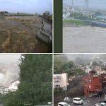 Wie ein Tsunami-Sintflutartige Regenfälle, Überschwemmungen und massive schwarze Schlammwelle in Japan - Reminiscent of a tsunami- powerful, black mudslide after torrential rains in Japan