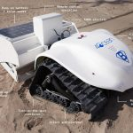 Lernen Sie den BeBot kennen, einen solarbetriebenen Strandreinigungsroboter! BeBot - Meet the fully electric robot cleaning beaches