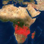 Die Welt steht in Flammen -Brände, die sich von Angola über den Kongo und Mosambik bis nach Madagaskar erstrecken- The world is going up in flames! fires extending from Angola across Congo and Mozambique to Madagascar
