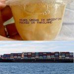 Die globale Lieferkette- Lebensmittelbetrug und gefälschte Baumwolle-  Etiketten lügen oft-  Labels often lie- Food fraud and counterfeit cotton- the global supply chain